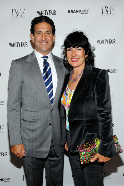 Christiane Amanpour and James Rubin at the Vanity Fair's event
