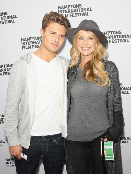 Photo of Christie Brinkley & her Son  Jack Paris Brinkley Cook