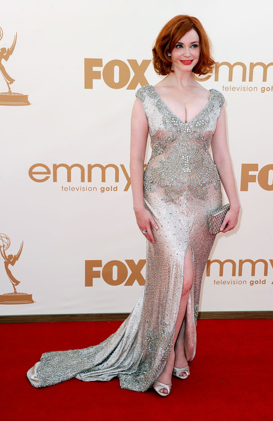 Christina Hendricks at the Emmys: cleavage in the front