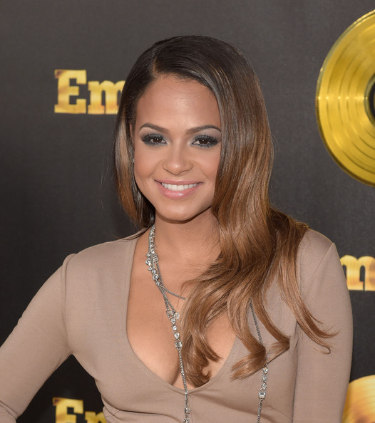 """Premiere Of Fox's """"Empire"""" - Arrivals [hair,face,hairstyle,blond,beauty,chin,yellow,layered hair,long hair,forehead,arrivals,christina milian,california,hollywood,arclight cinemas cinerama dome,fox,empire,premiere,premiere]"""