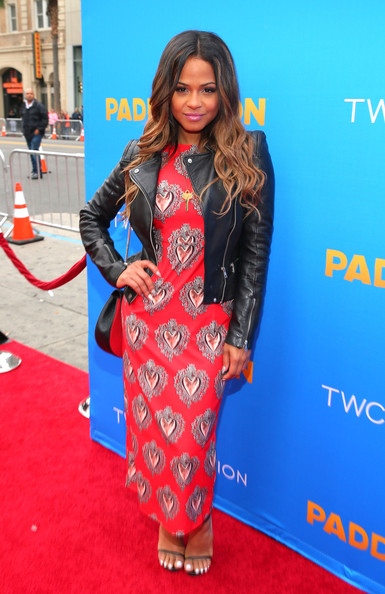 "Premiere Of TWC-Dimension's ""Paddington"" - Red Carpet [paddington,clothing,carpet,red carpet,dress,hairstyle,premiere,electric blue,flooring,long hair,fashion,red carpet,christina milian,california,hollywood,tcl chinese theatre imax,twc-dimension,premiere,premiere]"