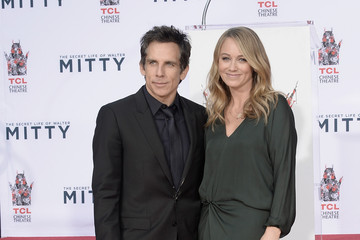 Christine Taylor Ben Stiller's Hand and Footprint Ceremony