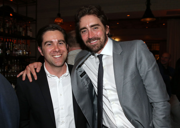 'Halt and Catch Fire' Premieres at Hollywood [halt and catch fire,series,series,event,suit,formal wear,fun,smile,white-collar worker,facial hair,lee pace,christopher c. rogers,los angeles,amc,party,l,party]