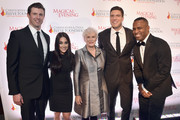"Matthew Reeve, Glenn Close, Will Reeve, Will Reeve, and DJ Whoo Kid attend ""A Magical Evening"" Gala hosted by The Christopher & Dana Reeve Foundation a at Conrad Hotel on November 16, 2017 in New York City."
