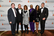 """(L-R) Richard Kind, President of the Christopher Reeve & Dana Reeve Foundation Peter Wilderotter, Gayle King, Keith David, Michelle Williams, and Will Reeve arrive at The Christopher & Dana Reeve Foundation """"Magical Evening"""" Gala on November 15, 2018 in New York City."""
