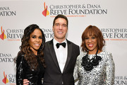"""(L-R) Michelle Williams, Will Reeve, and Gayle King arrive at The Christopher & Dana Reeve Foundation """"Magical Evening"""" Gala on November 15, 2018 in New York City."""