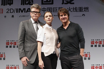 Christopher Mcquarrie Rebecca Ferguson 'Mission: Impossible Rogue Nation' Press Conference