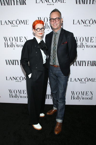 Vanity Fair And Lancôme Toast Women In Hollywood In Los Angeles [fashion,suit,event,eyewear,formal wear,premiere,christopher peterson,sandy powell,toast women in hollywood,lanc\u00e3,l-r,los angeles,lanc\u00f4me toast women in hollywood,california,vanity fair,terry crews,americas got talent,gabrielle union,celebrity,actor,television presenter,model,television]