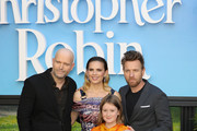 Marc Forster, Hayley Atwell, Bronte Carmichael,  and Ewan McGregor attend attends the European Premiere of 'Christopher Robin' at BFI Southbank on August 5, 2018 in London, England.