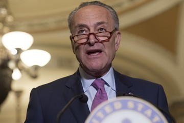 Chuck Schumer Senate Democrats Hold Press Conference on Trumpcare's Impact on Middle Class