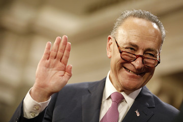 Chuck Schumer The Vice President Swears in Members of the 115th Congress