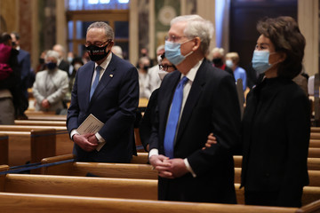 Chuck Schumer Joe Biden Marks His Inauguration With Full Day Of Events