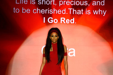 Ciara American Heart Association Go Red For Women Red Dress Collection 2015 Presented By Macy's At Mercedes-Benz Fashion Week - Runway