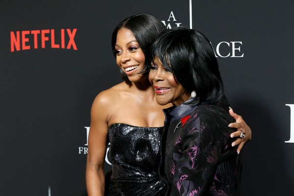 Netflix Premiere Tyler Perry's 'A Fall From Grace' [a fall from grace,hair,hairstyle,beauty,black hair,fashion,premiere,event,dress,smile,photography,tyler perry,cicely tyson,bresha webb,new york city,netflix,metrograph,premiere,bresha webb,cicely tyson,a fall from grace,netflix,actor,casting,celebrity,entertainment]