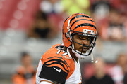 Quarterback Jason Campbell #17 of the Cincinnati Bengals warms up prior to the start of the NFL preseason game betweent the Arizona Cardinals and the Cincinnati Bengals at University of Phoenix Stadium on August 24, 2014 in Glendale, Arizona.