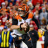 Andy Dalton Photos - Andy Dalton #14 of the Cincinnati Bengals rolls out of the pocket during the second quarter of the game against the Kansas City Chiefs at Arrowhead Stadium on October 21, 2018 in Kansas City, Kansas. - Cincinnati Bengals vs. Kansas City Chiefs