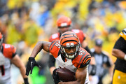 James Wright #86 of the Cincinnati Bengals runs after a catch in the second half during the game against the Pittsburgh Steelers at Heinz Field on September 18, 2016 in Pittsburgh, Pennsylvania.