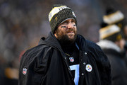 Ben Roethlisberger #7 of the Pittsburgh Steelers looks on in the first quarter during the game against the Cincinnati Bengals at Heinz Field on December 30, 2018 in Pittsburgh, Pennsylvania.