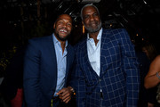 Michael Strahan and Charles Oakley attend the Cincoro Tequila launch at CATCH Steak on September 18, 2019 in New York City.