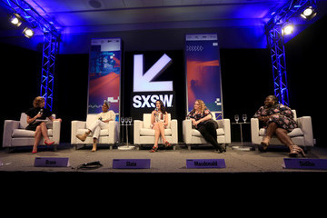 Cindi Leive Glamour Hosts Conversation With Jenny Slate, Gabby Sidibe, Janicza Bravo, Danielle Macdonald and Cindi Leive at SXSW