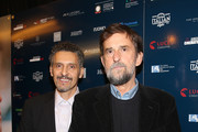 "Actor John Turturro and Co-Writer/Director Nanni Moretti attend the Cinema Italian Style Closing Night Screening of ""Mia Madre"" at the Aero Theatre on November 16, 2015 in Santa Monica, California."