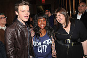 """Chris Colfer, Amber Riley and Ashley Fink attend The Cinema Society & Acura screening of """"Thor"""" after party at The Top of The Standard on April 28, 2011 in New York City."""