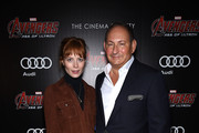 """Jessica Joffe (L) and John Demsey attend The Cinema Society & Audi screening of Marvel's """"Avengers: Age of Ultron"""" at SVA Theater on April 28, 2015 in New York City."""