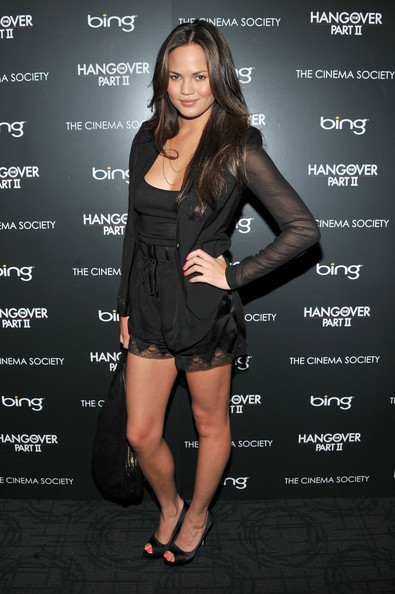 "Model Chrissy Teigen attends the Cinema Society & Bing screening of ""The Hangover Part II"" at Landmark Sunshine Cinema on May 23, 2011 in New York City."