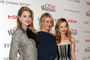 "(L-R) Actresses Kate Upton, Cameron Diaz and Leslie Mann attend The Cinema Society & Bobbi Brown with InStyle screening of ""The Other Woman"" at The Paley Center for Media on April 24, 2014 in New York City."