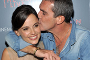 """Actress Elena Anaya and actor Antonio Banderas attend the Cinema Society & DeLeon Tequila screening of """"The Skin I Live In"""" at the Tribeca Grand Hotel on October 13, 2011 in New York City."""