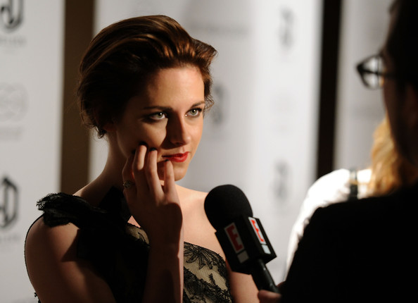 Kristen+Stewart in The Cinema Society & Everlon Diamond Knot Collection Host A Screening Of