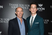 "Jon Kilik and Miles Teller attend a screening of DreamWorks and Universal Pictures' ""Thank You for Your Service""  hosted by The Cinema Society at The Landmark at 57 West on October 25, 2017 in New York City."