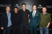 "(L-R) Jon Kilik, Beulah Koale, Jason Hall, Miles Teller and Adam Schumann attend a screening of DreamWorks and Universal Pictures' ""Thank You for Your Service""  hosted by The Cinema Society at The Landmark at 57 West on October 25, 2017 in New York City."