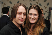 """Actor Kieran Culkin and producer Ara Katz attend the Cinema Society with UGG & Suffolk County Film Commission's after party for """"Paper Man"""" at the Crosby Street Hotel on April 5, 2010 in New York City."""