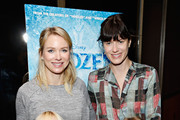 "Actress Naomi Watts with son Alexander Schreiber and Sunrise Coigney with daughter Odette Ruffalo attend The Cinema Society's special screening of Walt Disney Animation Studios' ""Frozen"" at the Tribeca Grand Hotel on November 2, 2013 in New York City."