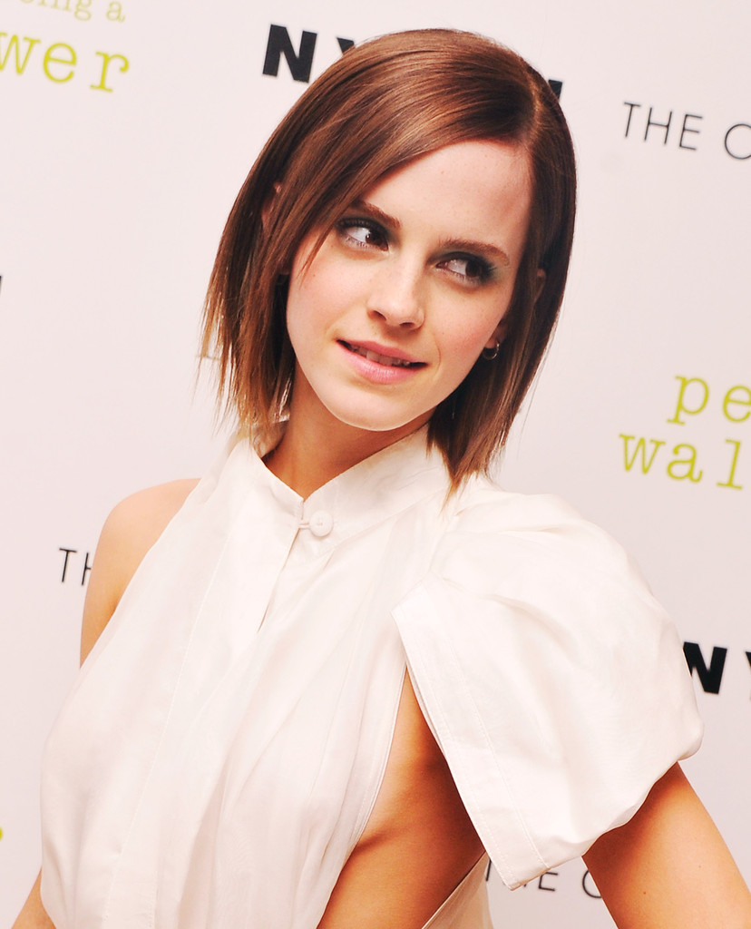 "Actress Emma Watson attends The Cinema Society special screening of ""The Perks Of Being A Wall Flower"" on September 13, 2012 in New York City."