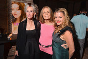 """(L-R) Catherine MacKinnon, Gloria Steinem, and Heidi Jo Markel attend The Cinema Society and MCM with Grey Goose screening of Radius TWC's """"Lovelace"""" After Party at Refinery Hotel on July 30, 2013 in New York City."""