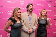 """(L-R) Heidi Jo Markel, Jim Young and Laura Rister attend The Cinema Society and MCM with Grey Goose screening of Radius TWC's """"Lovelace"""" at MoMA on July 30, 2013 in New York City."""