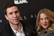 """Pablo Schreiber and guest attend The Cinema Society with Montblanc and Dom Perignon screening of Sony Pictures Classics' """"Still Alice"""" at Landmark's Sunshine Cinema on January 13, 2015 in New York City."""