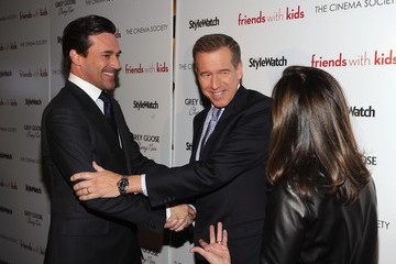 """Brian Williams The Cinema Society & People StyleWatch With Grey Goose Host A Screening Of """"Friends With Kids"""" - Inside Arrivals"""