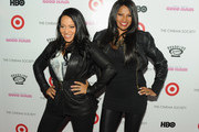 """Musicians Cheryl """"Salt"""" James and Sandy """"Pepa"""" Denton attend The Cinema Society and Target screening of """"Good Hair"""" at the IFC Center on October 5, 2009 in New York City."""