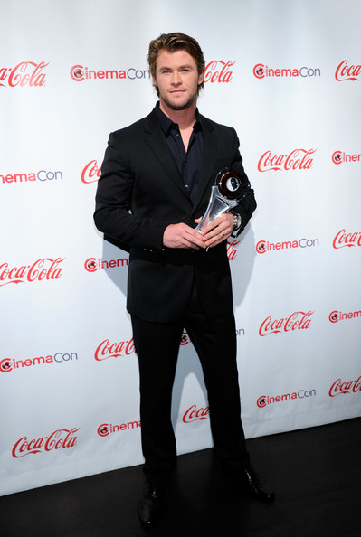 Actor Chris Hemsworth, recipient of the Male Star of Tomorrow award, arrives at the CinemaCon awards ceremony at the Pure Nightclub at Caesars Palace during CinemaCon, the official convention of the National Association of Theatre Owners, March 31, 2011 in Las Vegas, Nevada.