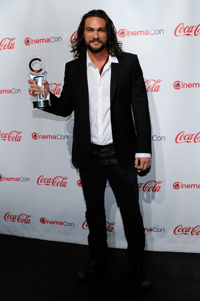 Actor Jason Momoa, recipient of the Male Rising Star of 2011 award, arrives at the CinemaCon awards ceremony at the Pure Nightclub at Caesars Palace during CinemaCon, the official convention of the National Association of Theatre Owners, March 31, 2011 in Las Vegas, Nevada.