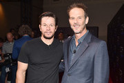 Actor Mark Wahlberg (L) and director Peter Berg at CinemaCon 2017 The State of the Industry: Past, Present and Future and STXfilms Presentation at The Colosseum at Caesars Palace during CinemaCon, the official convention of the National Association of Theatre Owners, on March 28, 2017 in Las Vegas, Nevada.