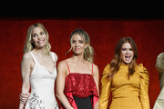 (L-R) Actors Leslie Bibb, Annabelle Wallis and Isla Fisher speak onstage during CinemaCon 2018 Warner Bros. Pictures Invites You to ?The Big Picture?, an Exclusive Presentation of our Upcoming Slate at The Colosseum at Caesars Palace during CinemaCon, the official convention of the National Association of Theatre Owners, on April 24, 2018 in Las Vegas, Nevada.