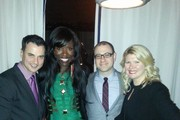 Publisher of Billboard Tommy Page, director of cultural branding, music and entertainment at PepsiCo Bozoma Saint John, editorial director of Billboard Bill Werde and owner of Mac Presents Marcie Allen attend Citi And AT&T Present The Billboard After Party at The London Hotel on February 10, 2013 in West Hollywood, California.