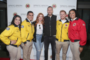 Julianne Hough and Brooks Laich (C) and City Year AmeriCorps members attend City Year Los Angeles' Spring Break: Destination Education at Sony Studios on April 28, 2018 in Los Angeles, California.