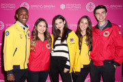 Victoria Justice (C) and AmeriCorps members attend City Year Los Angeles' Spring Break: Destination Education at Sony Studios on May 04, 2019 in Los Angeles, California.
