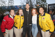Brooks Laich and Julianne Hough with City Year AmeriCorps members attend City Year Los Angeles' Spring Break: Destination Education at Sony Studios on April 28, 2018 in Los Angeles, California.