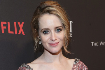 Claire Foy The Weinstein Company and Netflix Golden Globes Party Presented With FIJI Water
